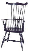 Braced New England Comb-back Chair