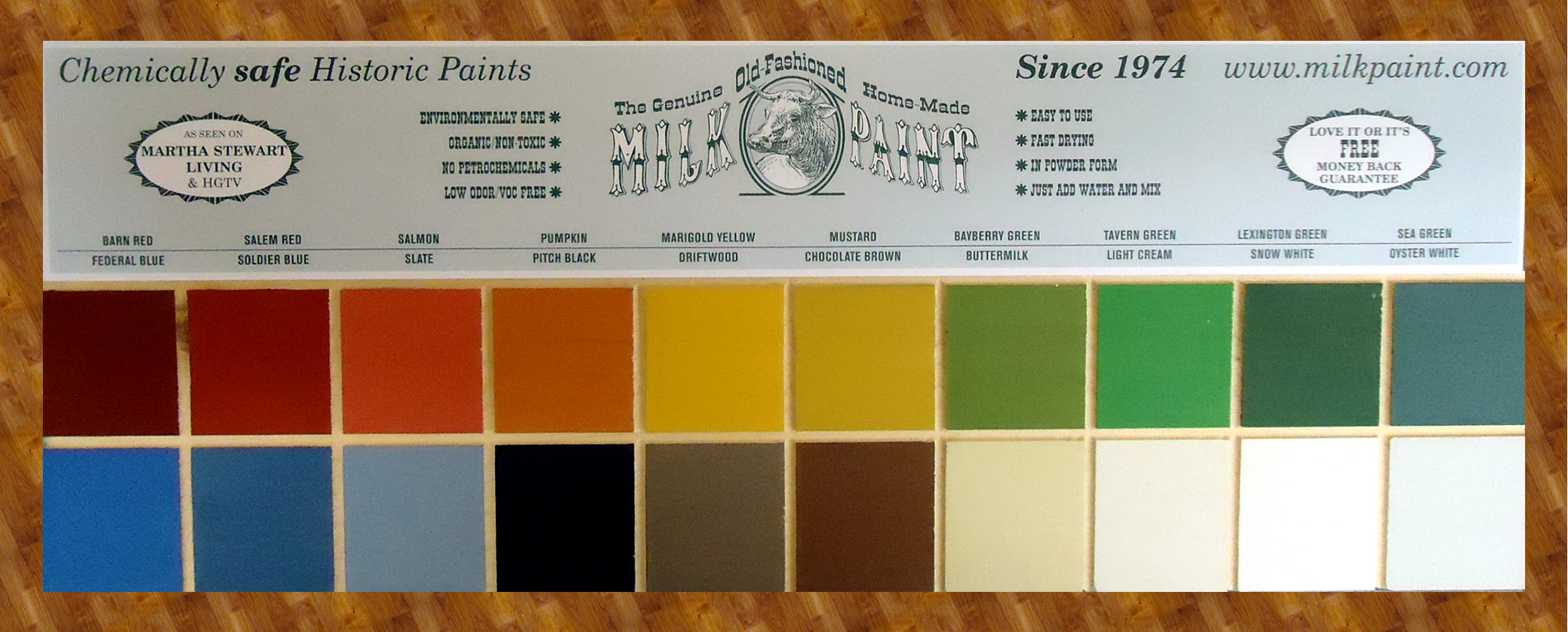 old fashioned milk paint colors